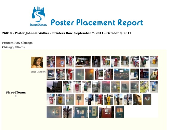 Poster Placement Report